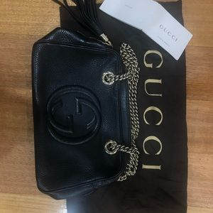 100% AUTHENTIC Gucci evening bag with gold chain